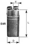Термоусаживаемая кабельная перчатка E2R, E4R
