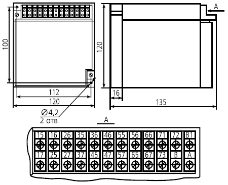габариты ВС-43-3, ВС-43-6