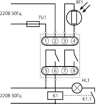 Схема подключения реле ФР-7Е.