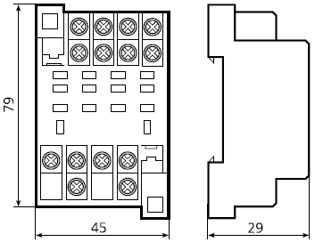 габариты РП63, РП64
