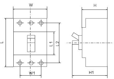 габаритные размеры автоматических выключателей ВА-99