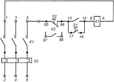 Электрическая схема пускателей серии ПМЛ 1000.