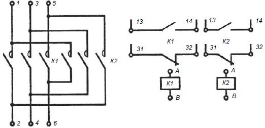 Схема подключения пмл 1230 катушка 220в