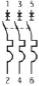 электрическая схема ВА 47-63 трехполюсный 240/415 В