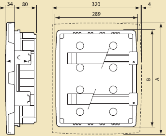 габаритные размеры Ekonixe NX 23 рейка
