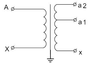 Принципиальная электрическая схема трансформаторов напряжения НОЛ.12-6.ОМ3 и НОЛ.12-10.ОМ3