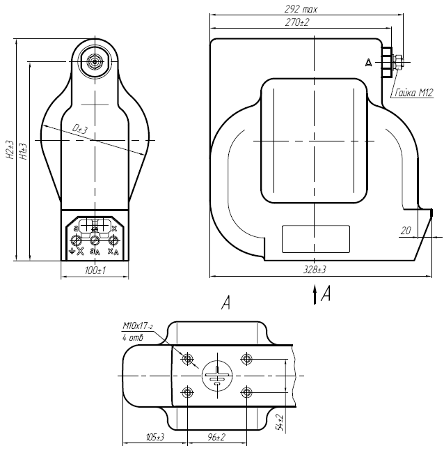 Общий вид трансформатора напряжения ЗНОЛП