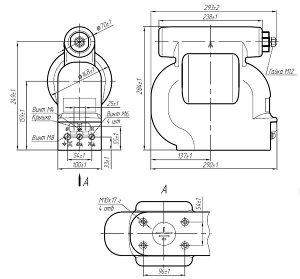 Общий вид трансформатора напряжения ЗНОЛПМ