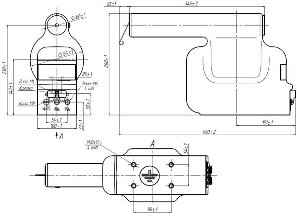 Общий вид трансформатора напряжения ЗНОЛПМИ.01