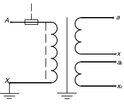 Принципиальная электрическая схема трансформатора напряжения ЗНОЛПМИ.01