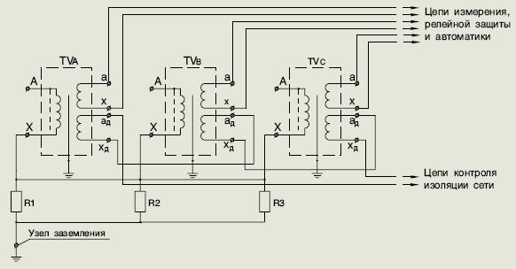Схема соединения трансформатора 3хЗНОЛ.06