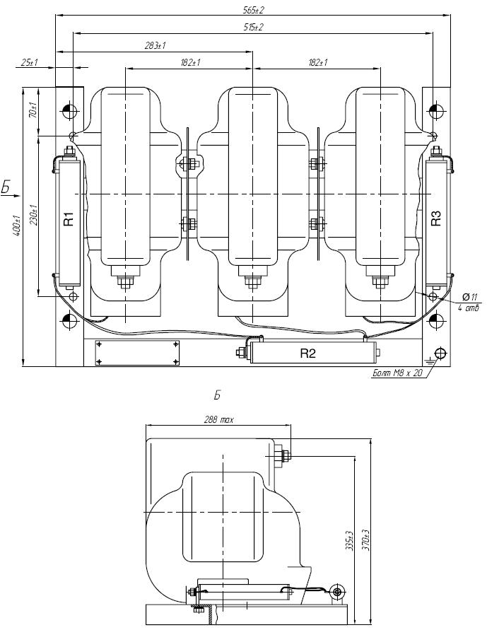 Общий вид трансформатора 3хЗНОЛП