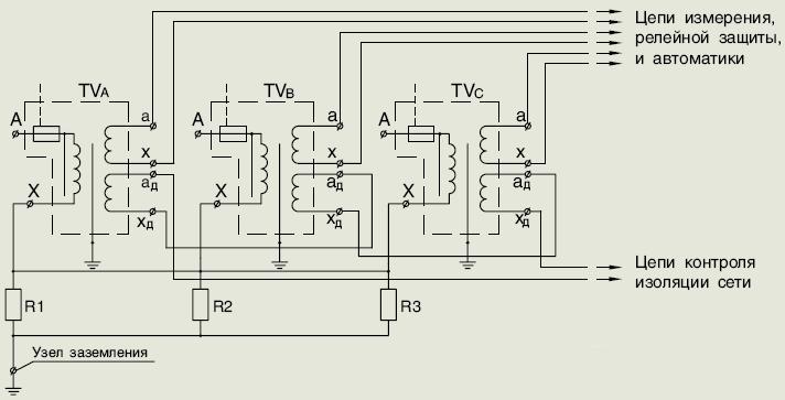 Схема соединения трансформатора 3хЗНОЛП