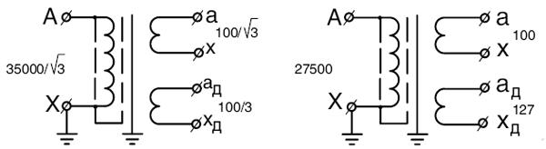 Схемы трасформаторов