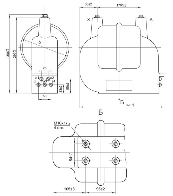 Принципиальная схема силового трансформатора ОЛС
