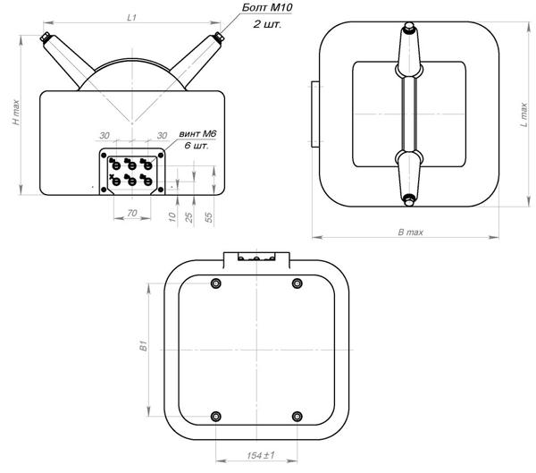 Общий вид силового трансформатора ОЛС