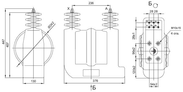Общий вид силового трансформатора ОЛ