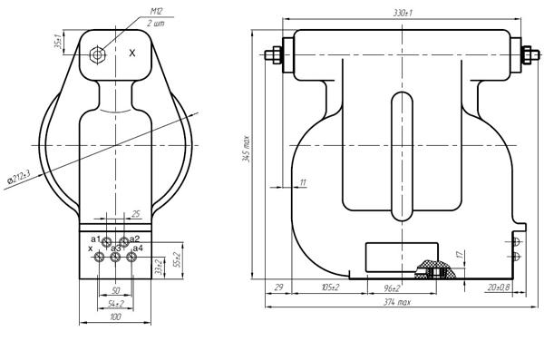 Общий вид силового трансформатора ОЛСП
