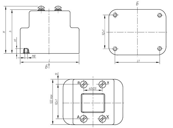 Общий вид трансформаторов напряжения НОЛ.12-0,38.ОМ3 и НОЛ.12-0,69.ОМ3