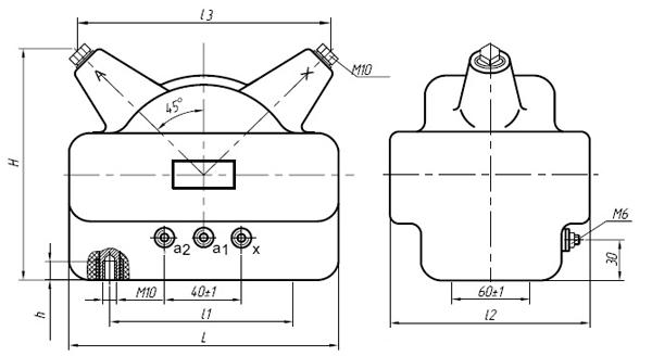 Общий вид трансформаторов напряжения НОЛ.12-6.ОМ3 и НОЛ.12-10.ОМ3