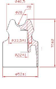 гараритные размеры изолятора ТП-20