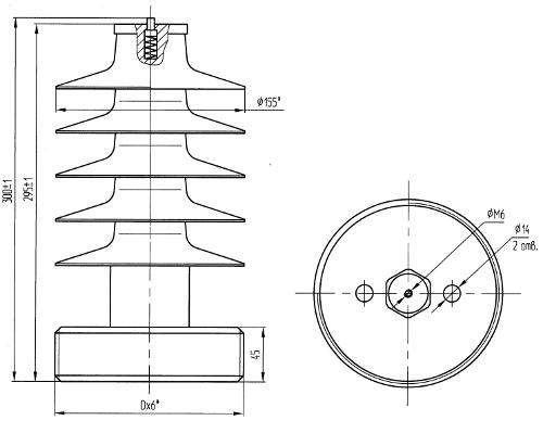 гараритные размеры изолятора ОСК-8-24-А УХЛ2