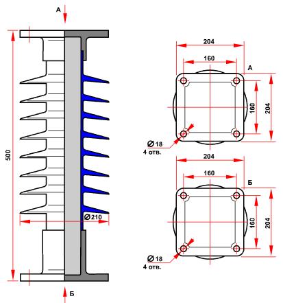гараритные размеры изолятора СК-10-35-А