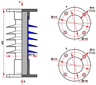 гараритные размеры изолятора СК-10-35-Б