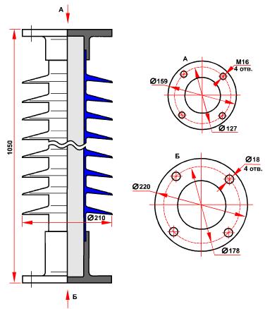 гараритные размеры изолятора СТАН-6-110-А-4