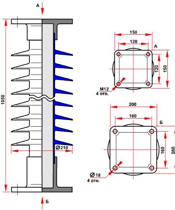 гараритные размеры изолятора СТАН-6-110-Б-4