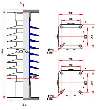 гараритные размеры изолятора СТАН-6-110-В-4