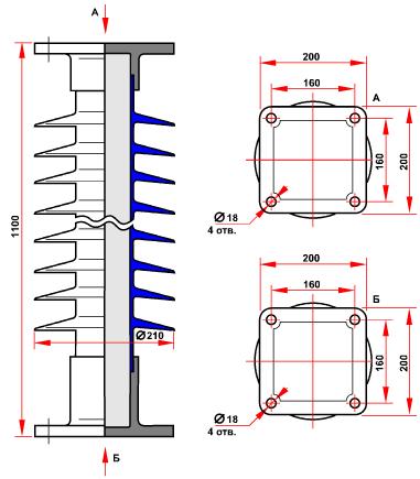 гараритные размеры изолятора ОСК-6-110-В-4