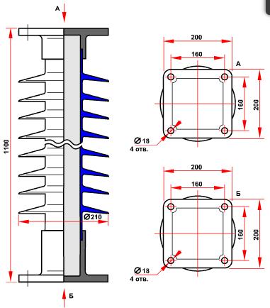 гараритные размеры изолятора ОСК-10-110-В-4