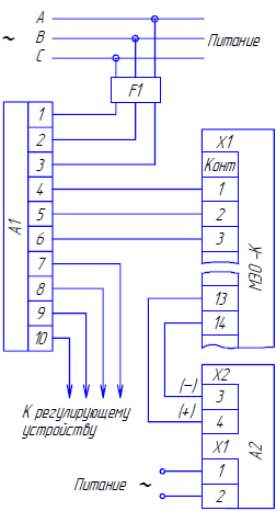 принципиальная схема пускателей