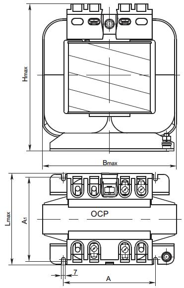 габаритные размеры трансформатора ОСР