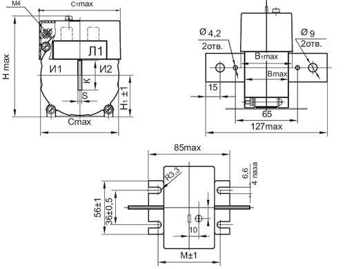 Общий вид трансформатора ТОП-0,66