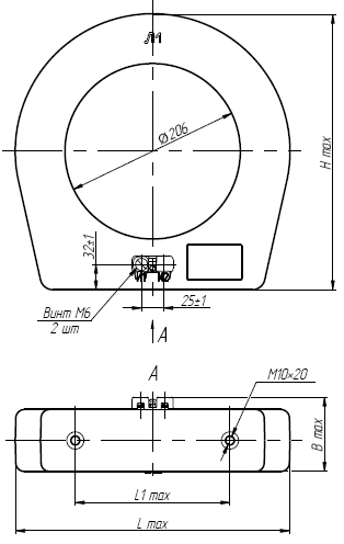 Общий вид трансформатора ТНШЛ-0,66 на 3000-5000А
