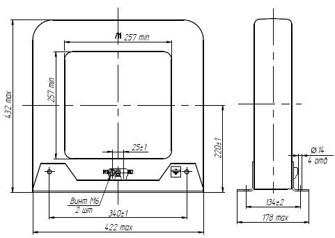 Общий вид трансформатора ТНШЛ-0,66 на 8000-1000А