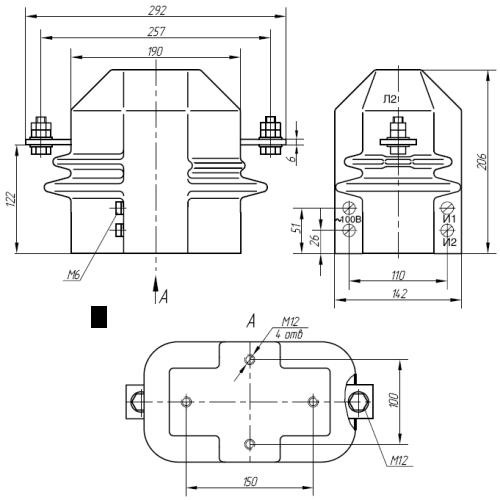 Общий вид трансформатора ТОЛК-6