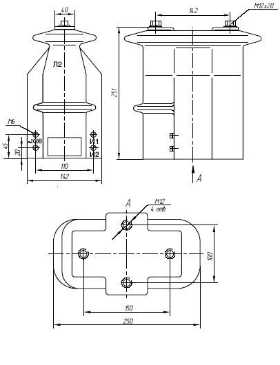 Общий вид трансформатора ТОЛК-10
