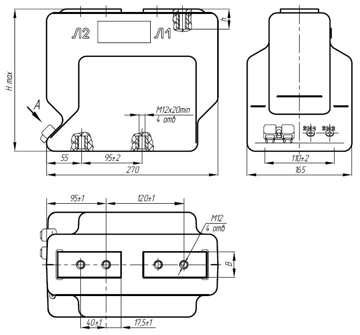 Общий вид трансформатора ТОЛ-10-I-2