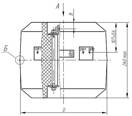 Общий вид трансформатора ТШЛ-10 (исполнение 1)