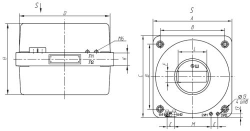 Общий вид трансформатора ТЛШ-10