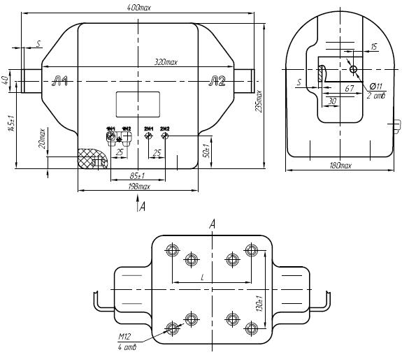 Общий вид трансформатора ТПЛ-10-М