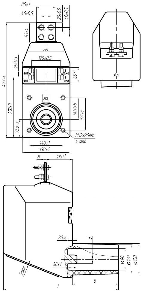 Общий вид трансформаторов ТЛ-10 от 50 до 1500А