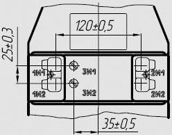 Вторичные контакты трансформатора ТЛ-10-1 с тремя вторичными обмотками