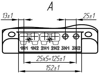 Вторичные контакты трансформатора ТЛК-35-1