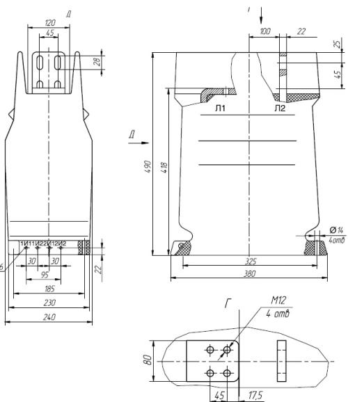 Общий вид трансформаторов ТЛК-35 на токи 2000,3000А