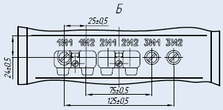 Вторичные контакты трансформатора трансформатора ТПЛК-10-1