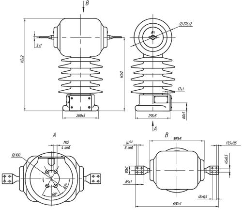 Общий вид трансформатора ТОЛ-35 III-IV